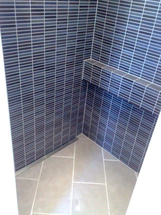 Inloop douche met douche drein